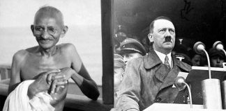Gandhi and hitler