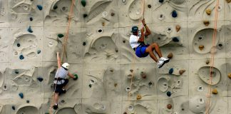 Artificial Rock Wall Climbing