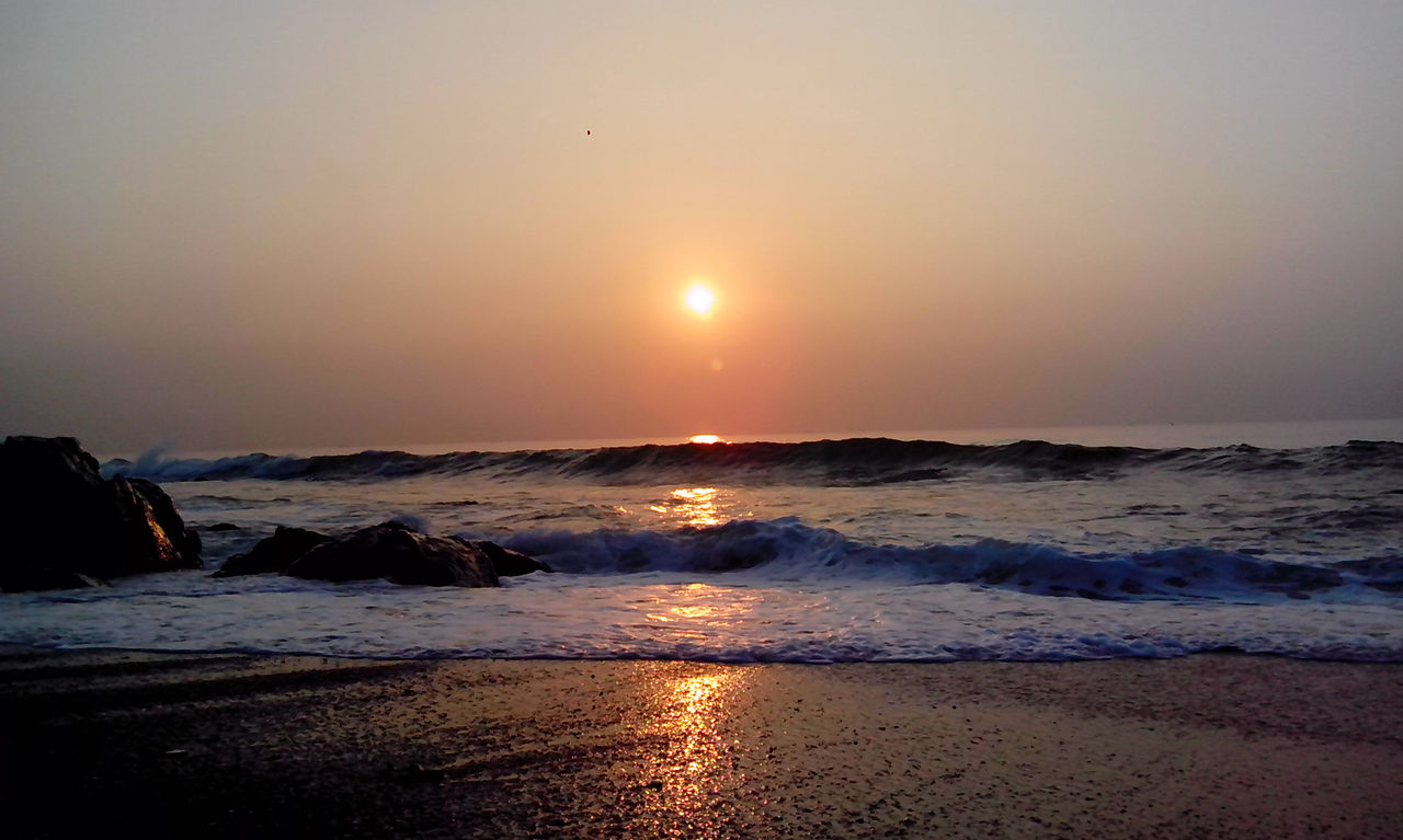 Sunrise over Bay of Bengal