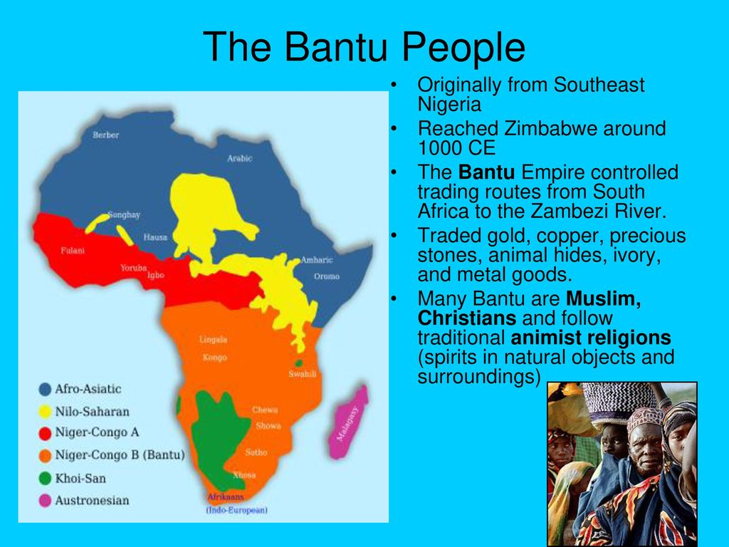 The Bantu People Originally from Southeast Nigeria