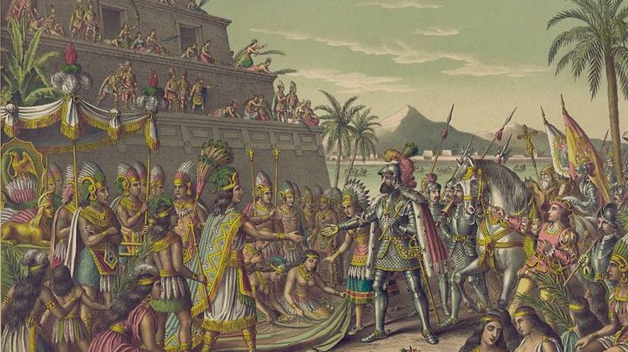 clash between spanish aztec