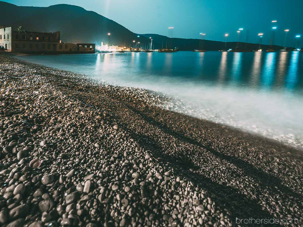 adriatic sea night blue