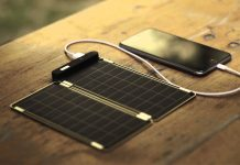 Solar power mobile charger