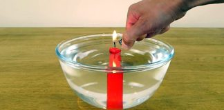 Under water candle