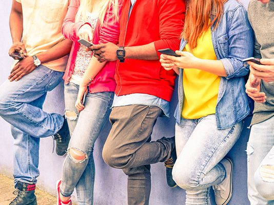 young-people-on-mobile-phones