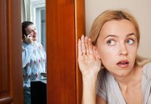 wife spying on husband