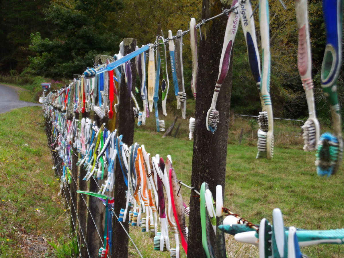 Toothbrush fence 2